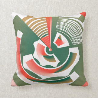 Abstract Cog in a Wheel Throw Pillow