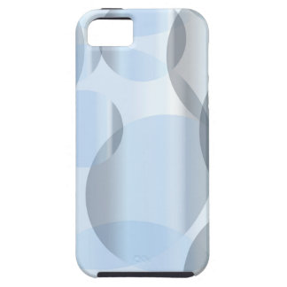 Abstract Cold Blue Circles Case For The iPhone 5