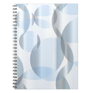 Abstract Cold Blue Circles Notebooks