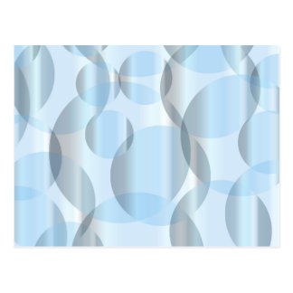 Abstract Cold Blue Circles Postcard