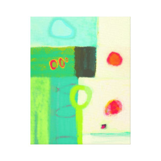 Abstract cold spring morning canvas print