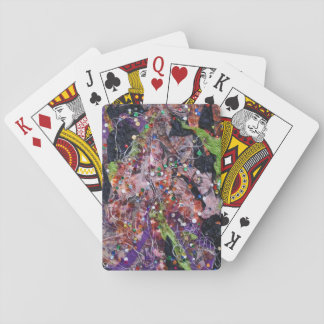 Abstract Collage with Sequins Art Deck of Cards