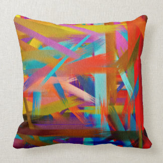 Abstract Color Art #12 Throw Pillow