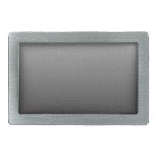 Abstract color - black rectangular belt buckle
