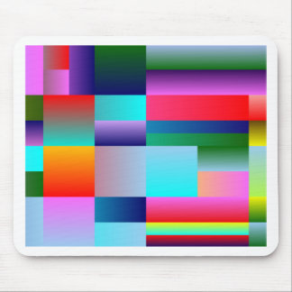 Abstract Color Boxes Mouse Pad