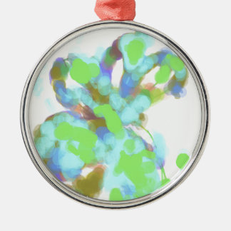 Abstract Color Design Silver-Colored Round Decoration