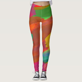 abstract color legging