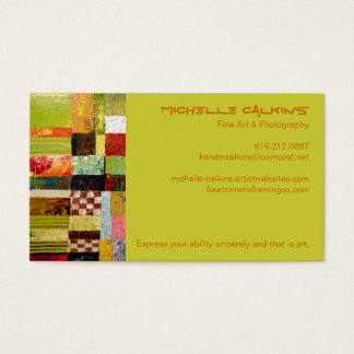 Abstract Color Pattern Business Card