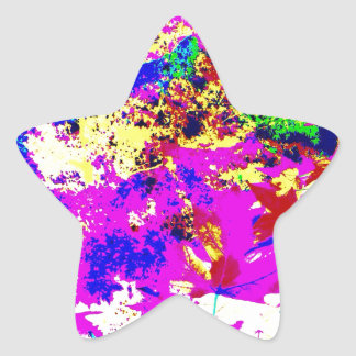Abstract Color Splash Star Sticker