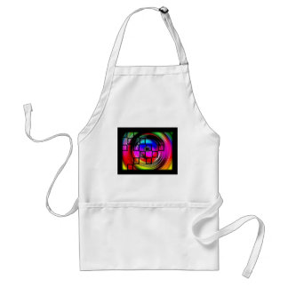 Abstract Color Wheel Apron