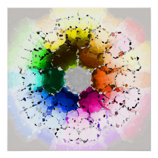 Abstract Color Wheel Poster