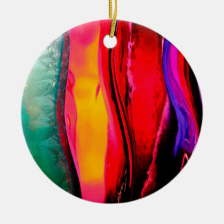 Abstract Colored Bottles Ceramic Ornament