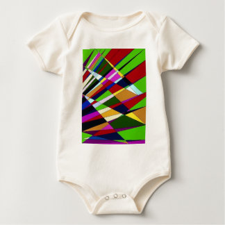 Abstract Colorful Angle lines digital art design Baby Bodysuit