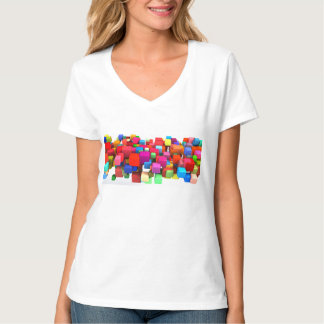 Abstract Colorful Background in Red, Blue, Green T-Shirt