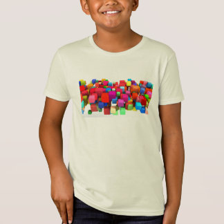 Abstract Colorful Background in Red, Blue, Green Tees