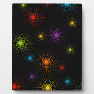 Abstract colorful background photo plaques