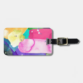 ABSTRACT COLORFUL BAG TAG