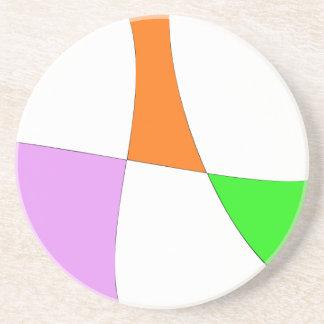 Abstract Colorful Balloons Coaster