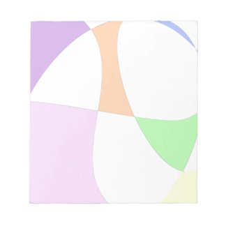 Abstract Colorful Balloons Notepad