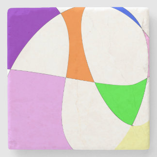 Abstract Colorful Balloons Stone Coaster