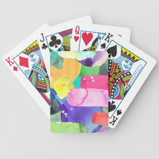 ABSTRACT COLORFUL BICYCLE PLAYING CARDS
