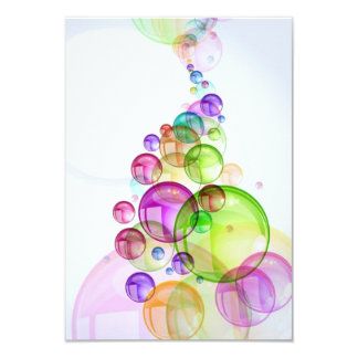 Abstract-Colorful-Bubble-Background-Vector abstrac 9 Cm X 13 Cm Invitation Card