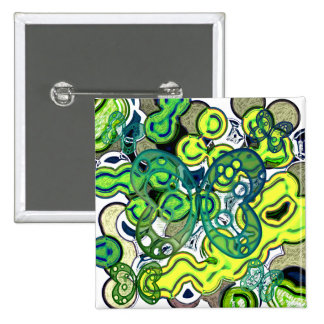 Abstract colorful butterflies 15 cm square badge