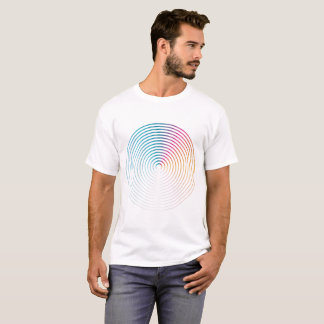 Abstract colorful circle Man shirt