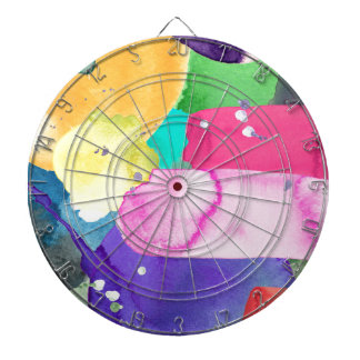 ABSTRACT COLORFUL DART BOARD