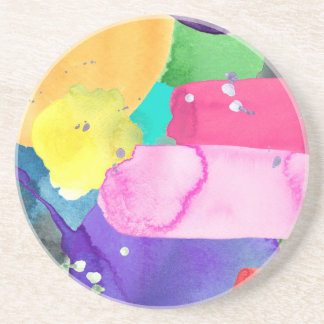 ABSTRACT COLORFUL DRINK COASTER
