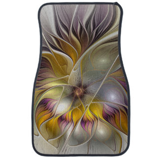 Abstract Colorful Fantasy Flower Modern Fractal Floor Mat