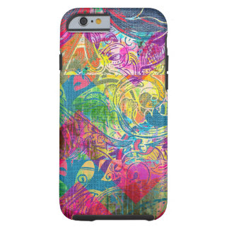Abstract Colorful Floral Swirls iPhone 6 case