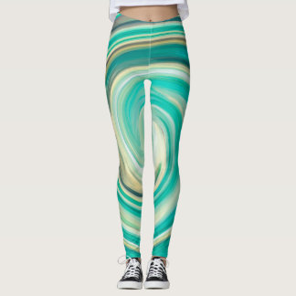 Abstract Colorful Fractal Pattern #5 Leggings
