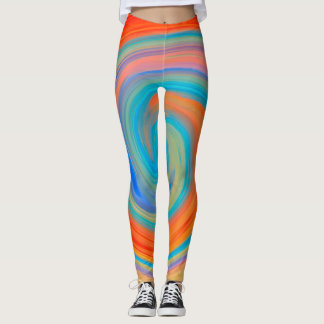 Abstract Colorful Fractal Pattern #6 Leggings