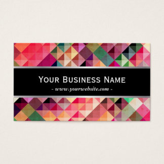 Abstract Colorful Fractal Patterns Business Card