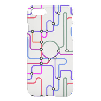 Abstract Colorful Geometric Lines Random Pattern 2 iPhone 7 Case