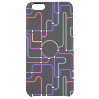 Abstract Colorful Geometric Lines Random Pattern Clear iPhone 6 Plus Case