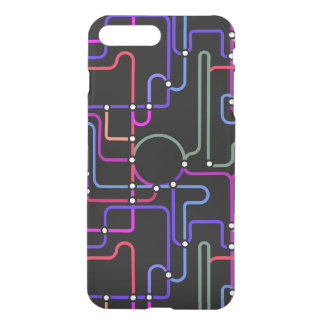 Abstract Colorful Geometric Lines Random Pattern iPhone 7 Plus Case