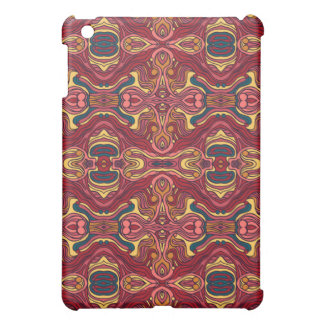 Abstract colorful hand drawn curly pattern design case for the iPad mini