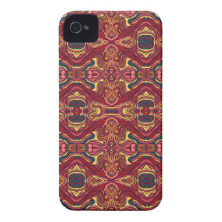 Abstract colorful hand drawn curly pattern design Case-Mate iPhone 4 case