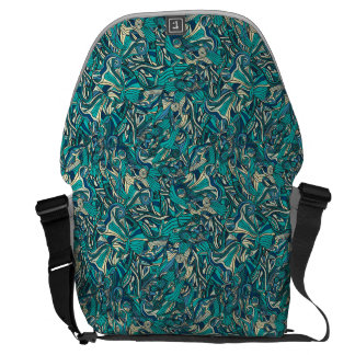 Abstract colorful hand drawn curly pattern design commuter bag