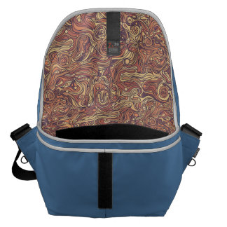 Abstract colorful hand drawn curly pattern design commuter bags
