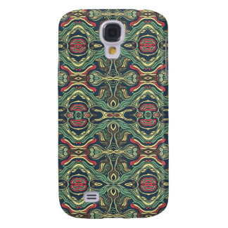 Abstract colorful hand drawn curly pattern design galaxy s4 case