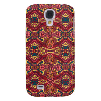 Abstract colorful hand drawn curly pattern design galaxy s4 cases