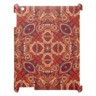 Abstract colorful hand drawn curly pattern design iPad cases