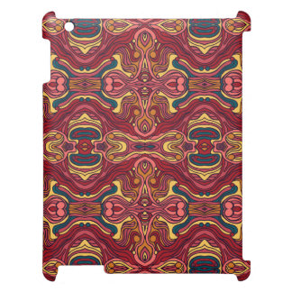 Abstract colorful hand drawn curly pattern design iPad covers