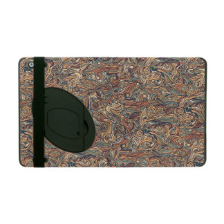 Abstract colorful hand drawn curly pattern design iPad folio cover