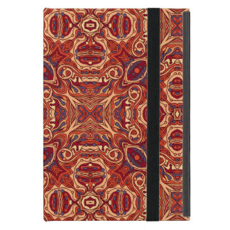 Abstract colorful hand drawn curly pattern design iPad mini case