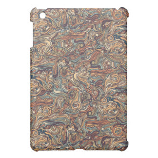 Abstract colorful hand drawn curly pattern design iPad mini cases