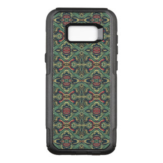 Abstract colorful hand drawn curly pattern design OtterBox commuter samsung galaxy s8+ case